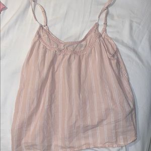 Abercrombie & Fitch Pink & White Striped Blouse